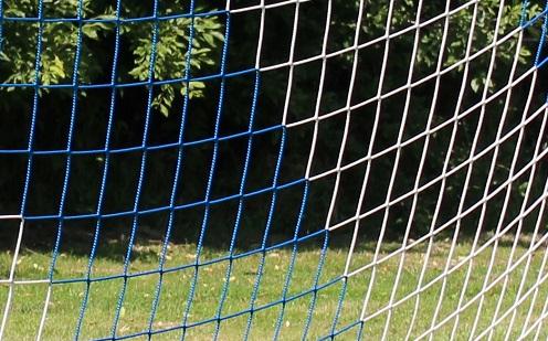 Zweifarbiges Netz für Fußballtore 7,32 x 2,44 m in Blau-Weiß