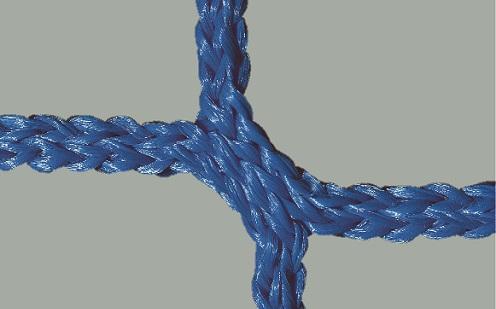Fußballtornetz 7,32 x 2,44 m, knotenlos in Blau