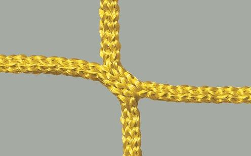 Fußballtornetz 7,32 x 2,44 m, knotenlos in Gelb
