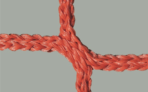 Jugendfußball-Tornetz mit 80/200 cm Auslage in Rot