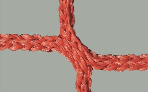 Fußballtornetz 7,32 x 2,44 m, knotenlos in Rot