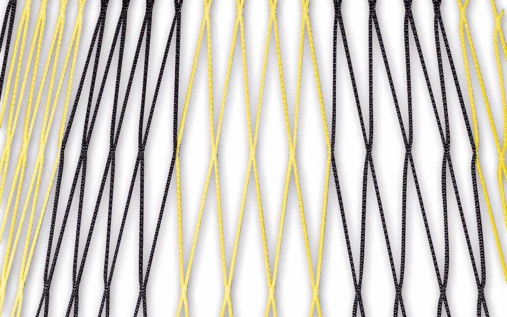 Zweifarbiges Netz für Fußballtore 7,32 x 2,44 m in Schwarz-Gelb