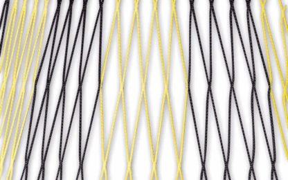Zweifarbiges Netz für Jugendtore 5 x 2 m in Schwarz-Weiß