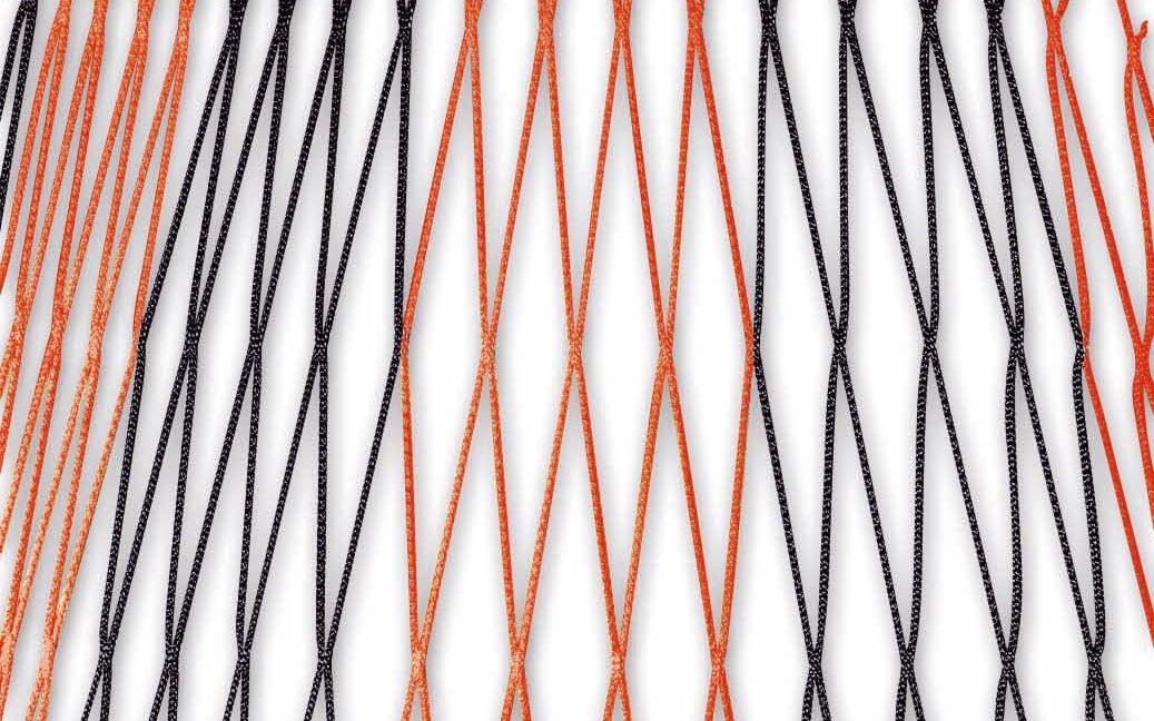 Zweifarbiges Fußballtornetz 7,32 x 2,44 m in Schwarz-Rot