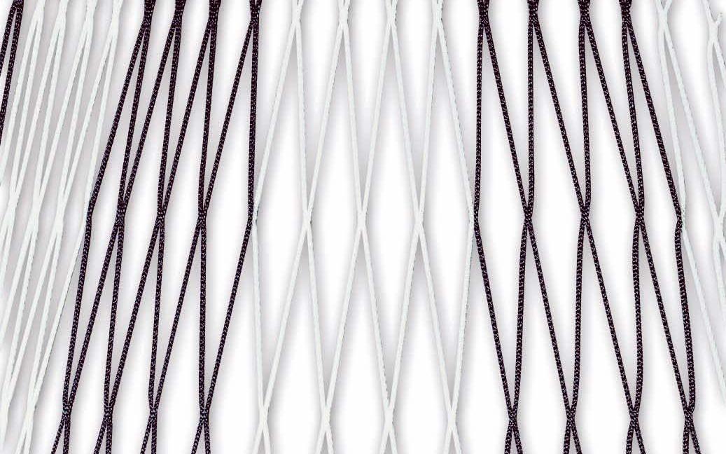 Zweifarbiges Netz für Fußballtore 7,32 x 2,44 m in Schwarz-Weiß