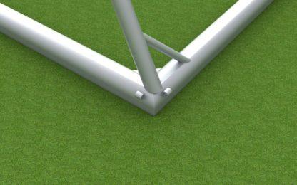 Trainingstor aus Aluminium mit ovalem Bodenrahmen