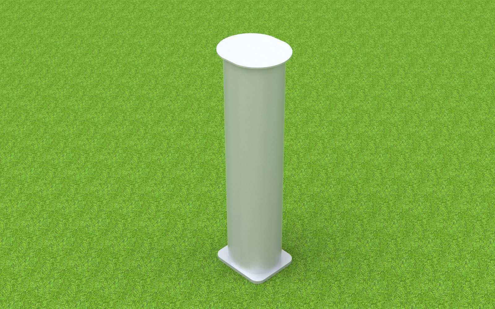 Bodenhülse Standard für Fußballtore (Profil 100 x 120 mm), mit losem Deckel
