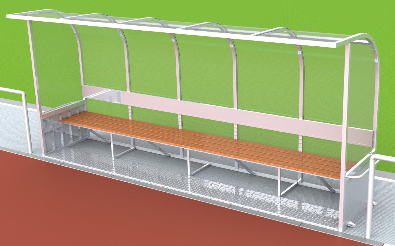 Trainerbank aus Aluminium vom Hersteller