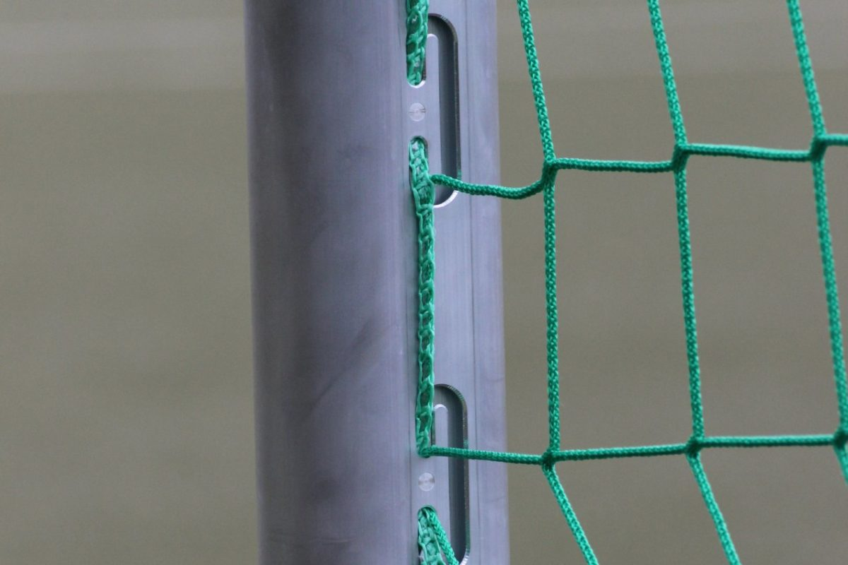 Jugendtor mit eingefräster Netzaufhängung von artec Sportgeräte