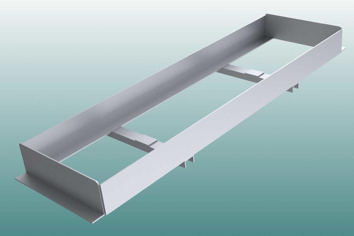 Einbauwanne aus Aluminium für Absprungbalken Weitsprung von artec