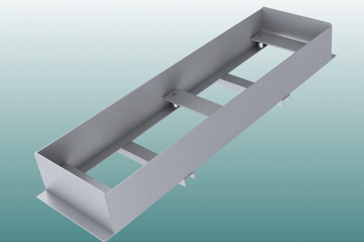 Einbauwanne aus Aluminium für Absprungbalken Weitsprung artec Sportgeräte