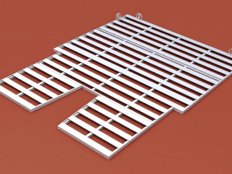 Auflageraster aus Aluminium für Stabhochsprungmatte, Abmessung 800 x 600 cm von artec Sportgeräte