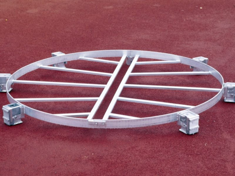 Behindertengerechter Kugelstoßring aus Aluminium