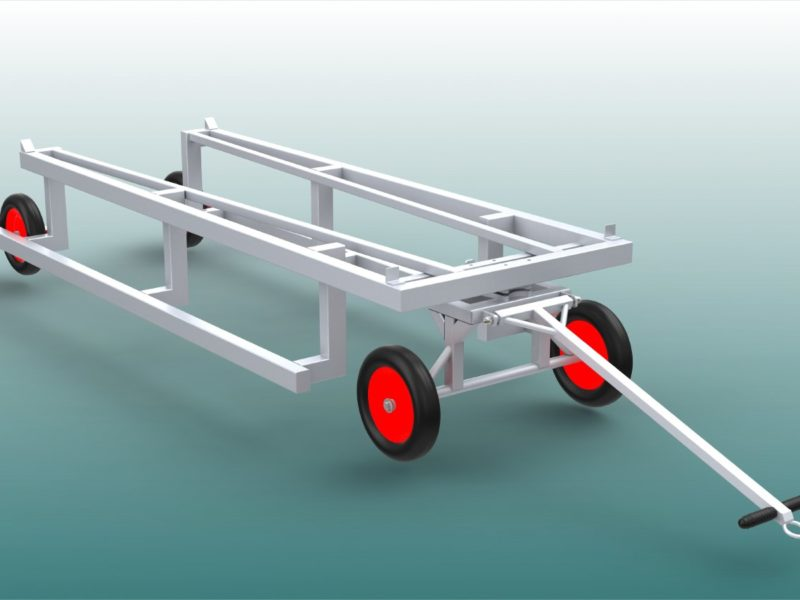 Sturdy transport trolley for hurdles (40 pieces)