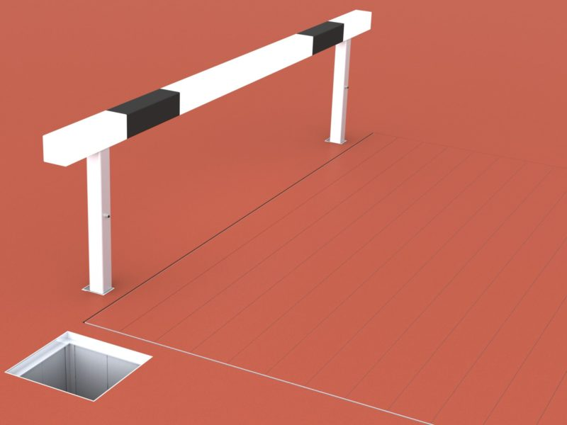 Moat cover with special aluminum profile with tongue and groove, upstand for plastic coating by artec® Sportgeräte