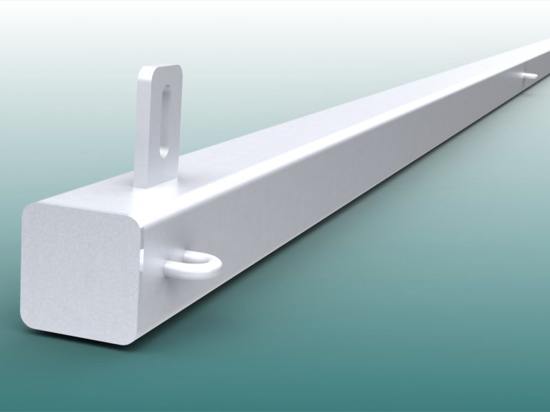 Ball stop posts for sports facilities made of aluminum
