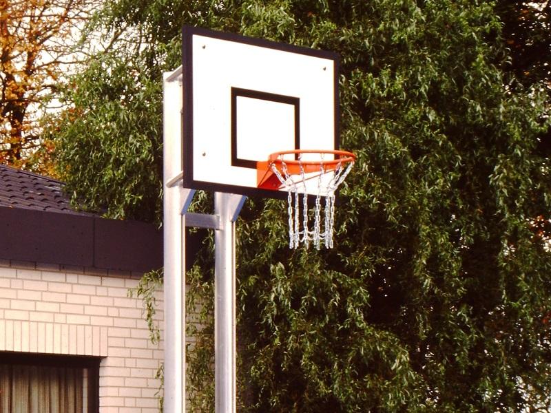 Basketballanlage Zweimast