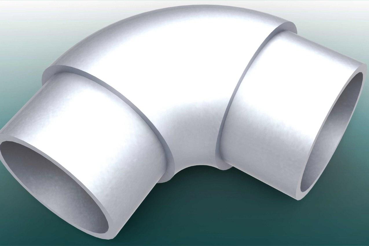 90° Bogen aus Aluminium für Barrieren von artec Sportgeräte