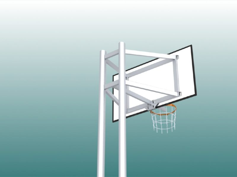 Vollverschweißte Basketballanlage aus Aluminium