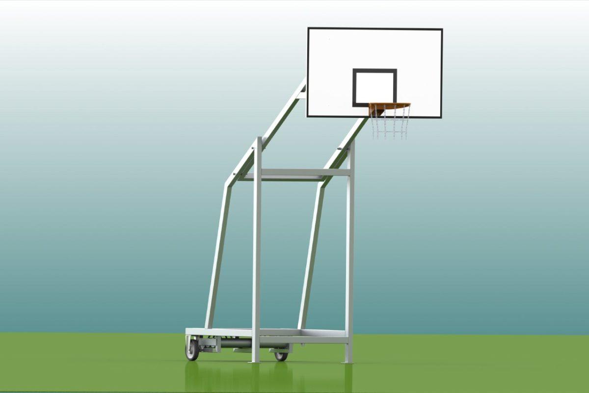 Mobile Basketballanlage aus Aluminium für Outdoor