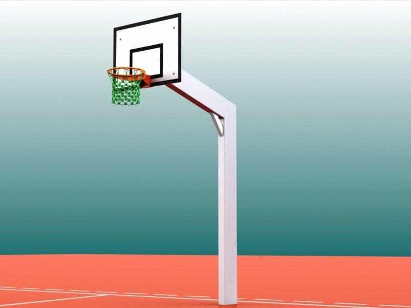 Basketballanlage Vandalo aus Aluminium