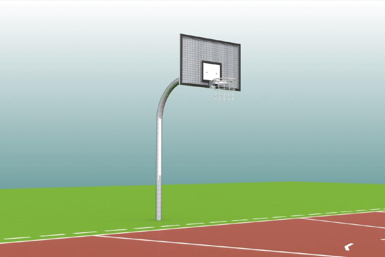 Streetballanlage aus Rundprofilen vom Hersteller