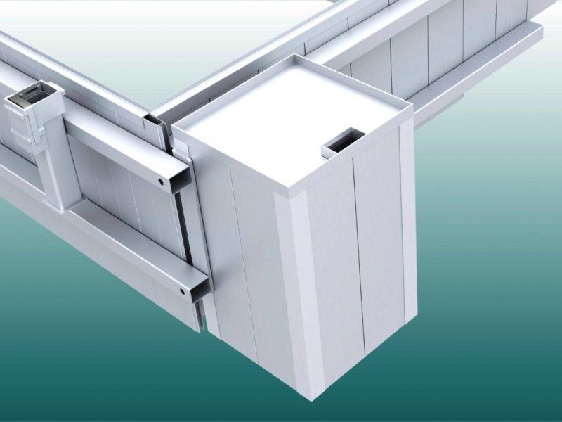 Supply shaft for moats made of aluminum
