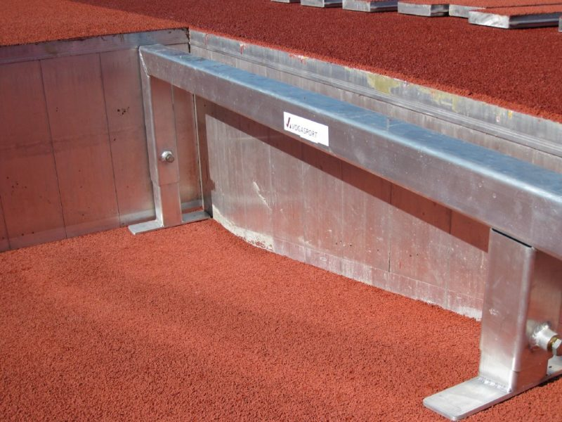 Support frames for moat cover made of aluminum