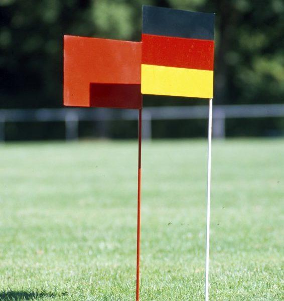 "Marking flag ""Deutscher Rekord"" from artec Sportgeräte"