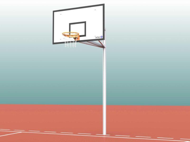 Einmast-Ständer für Basketball aus Aluminium