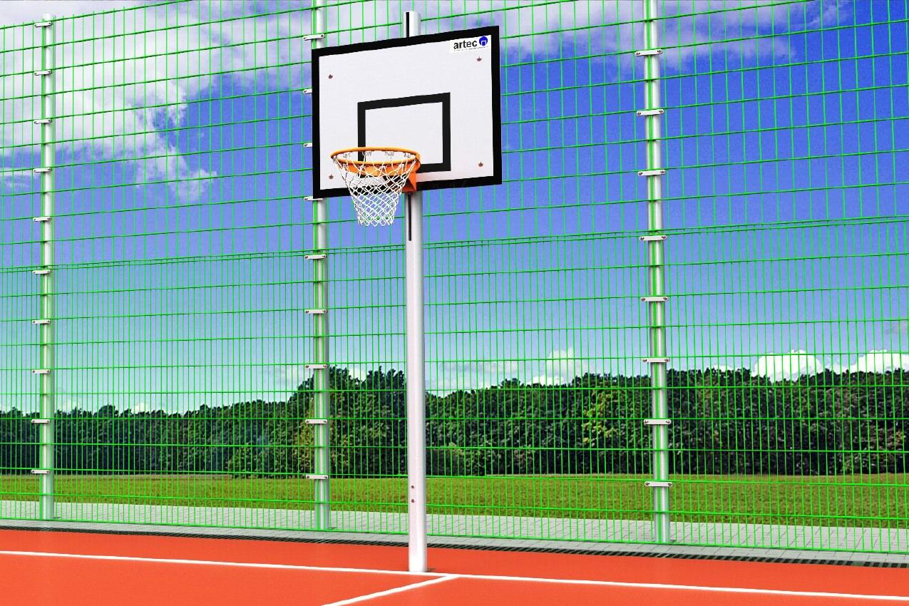 Höhenverstellbare Basketballanlage aus Aluminium