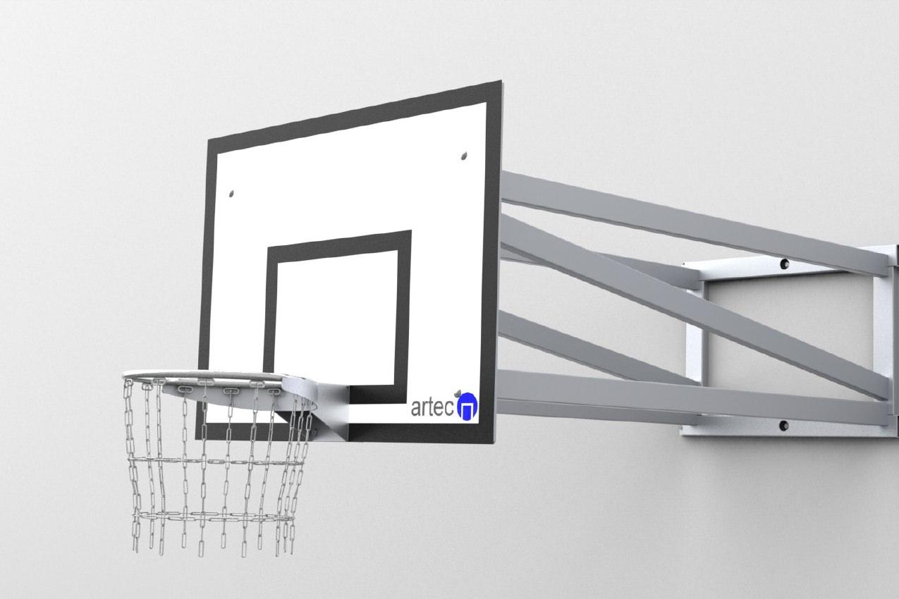 Basketballgestell zur Wandbefestigung aus Aluminium