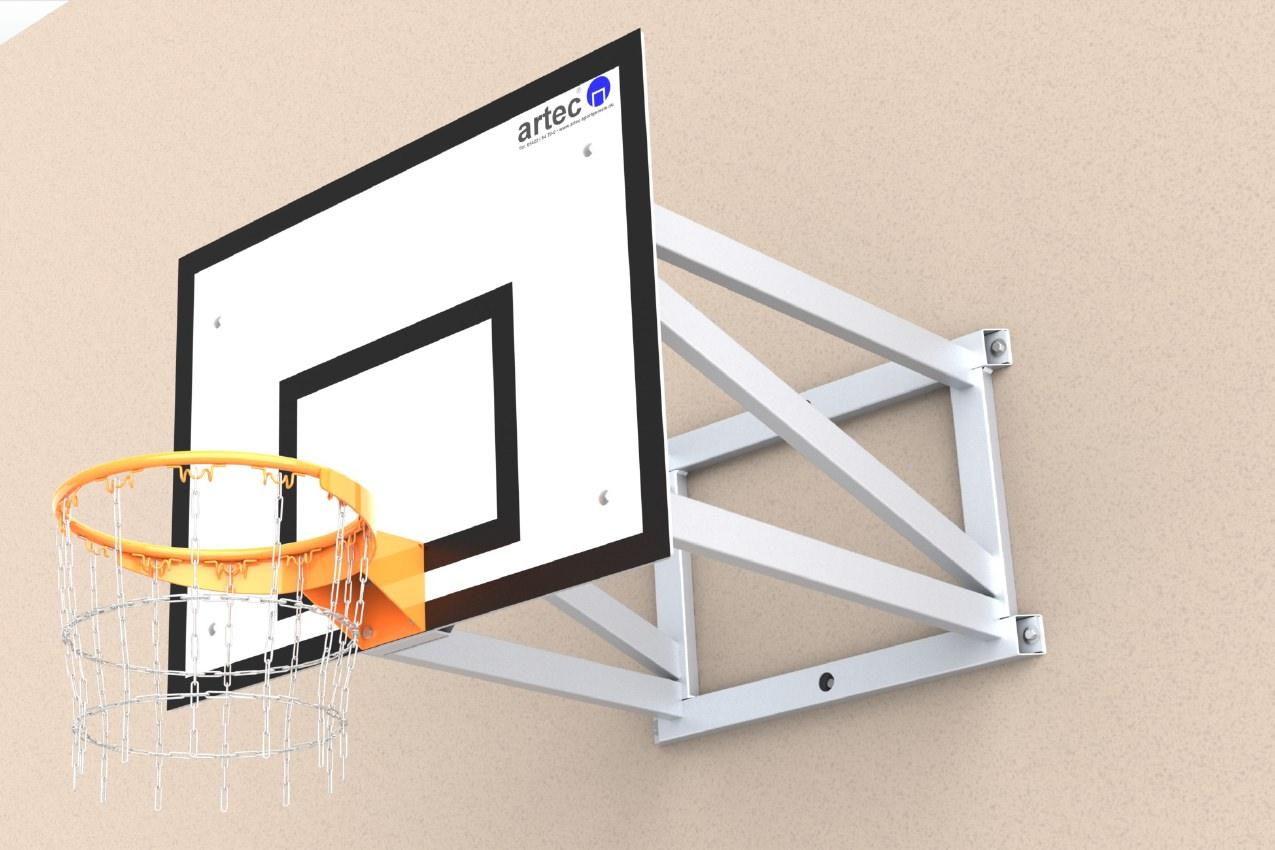 Basketballanlage zur Wandbefestigung aus Aluminium