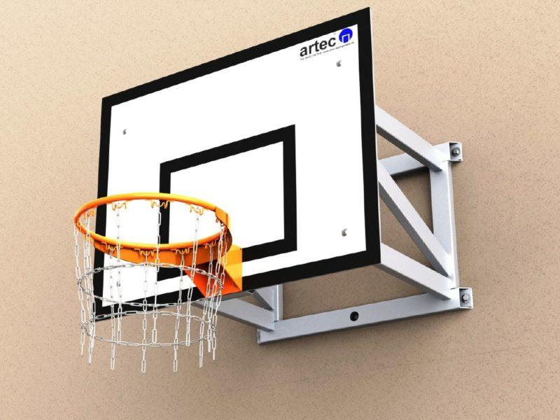 Vollverschweißte Basketball-Wandkonstruktion aus Aluminium