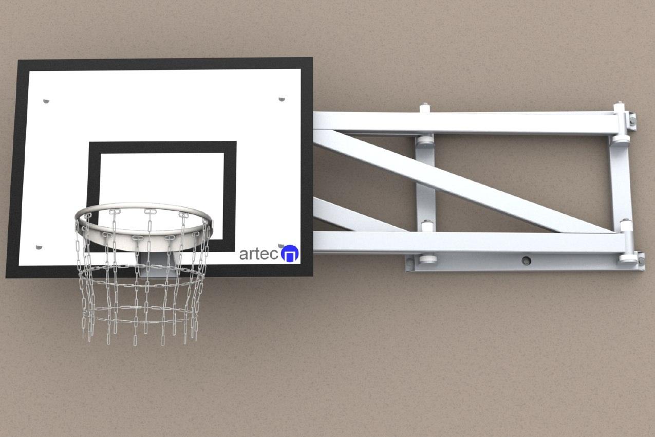 Einklappbare Basketballanlage aus Aluminium