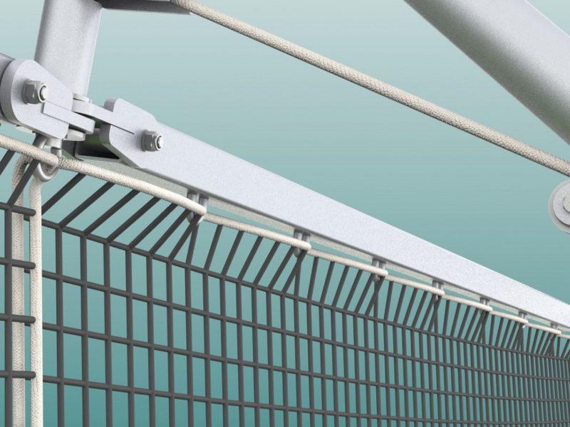 Stahldrahtseil für Ballfangnetz, PVC ummantelt, Stärke 4/5 mm