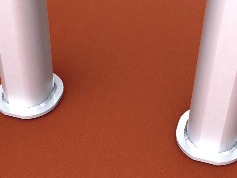 Bodenhülse Standard für Zweimast-Basketballständer aus Alu