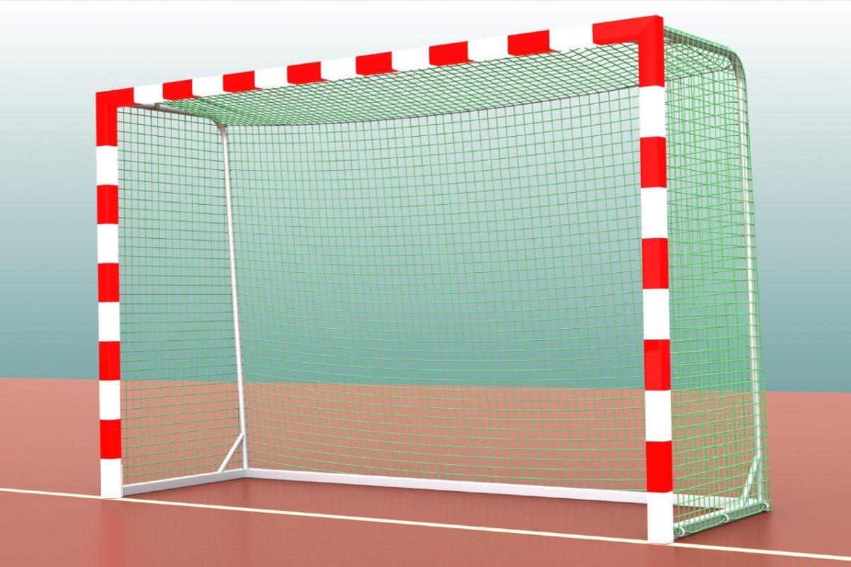 Robustes Handballtor aus Aluminium, 3 x 2 m