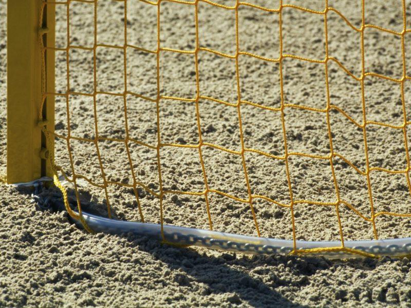 Kettenbeschwerung für Beach-Handballtornetz