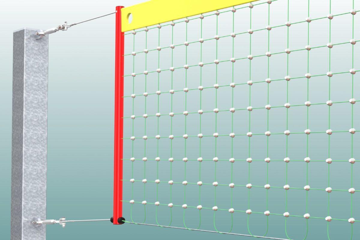 Volleyballnetz Dralo aus verzinktem Stahlseil 2 mm, Maschenweite: 100 x 100 mm von artec Sportgeräte