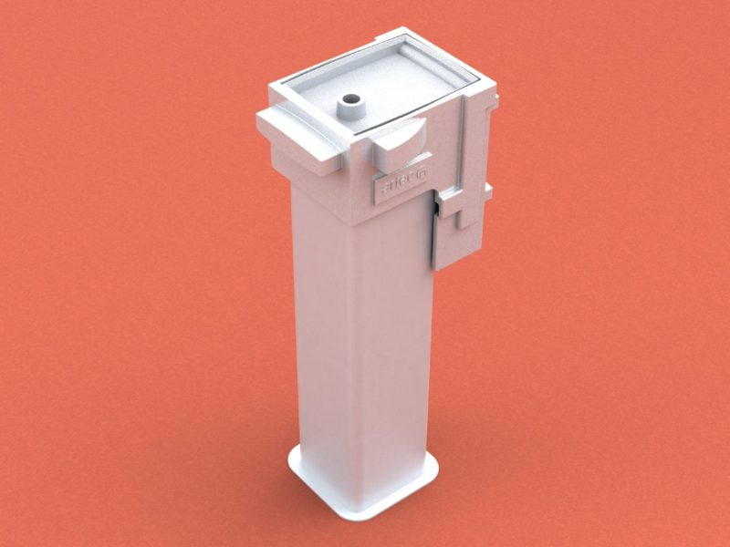 Ground socket special sloped, profile 80 x 80 mm