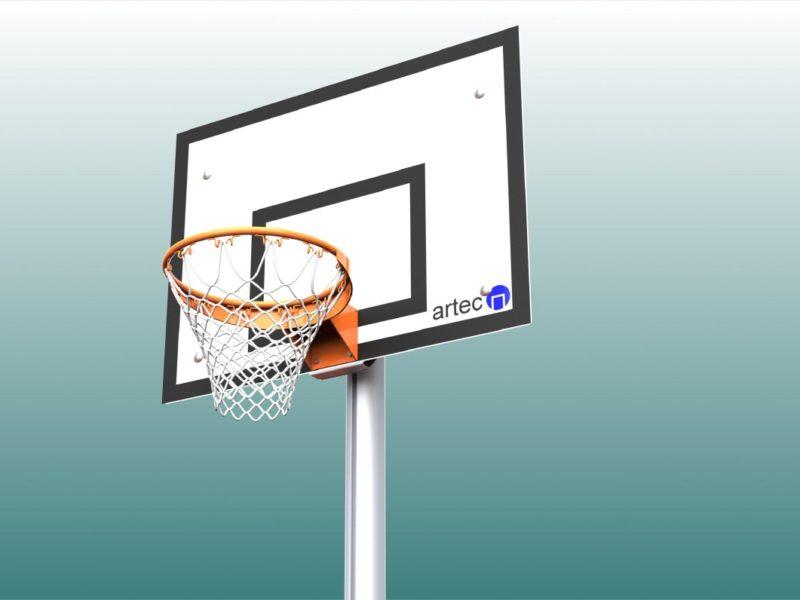 Basketballnetz aus Nylon in Weiß