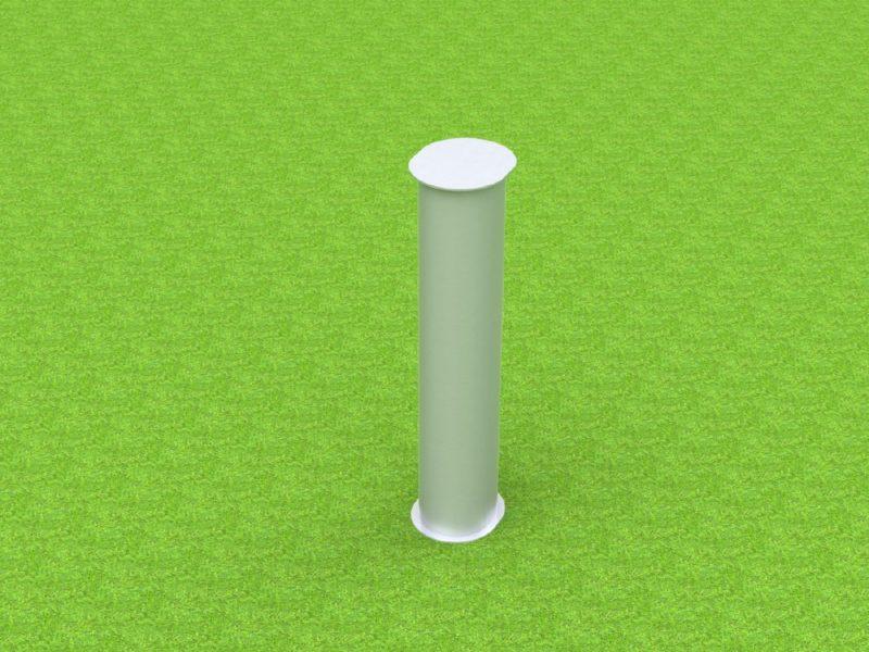 Bodenhülse Standard für Einmastständer, Ovalprofil
