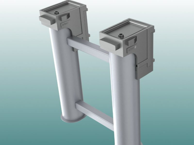 Ground socket special for two-mast basketball stand