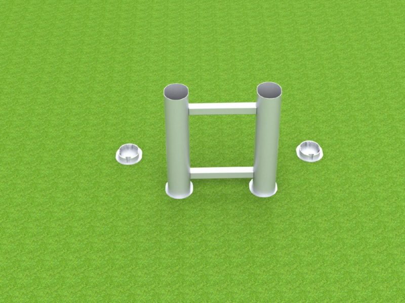 Bodenhülse Standard für Zweimastständer, Ovalprofil
