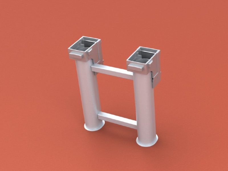 ground socket special for two mast stand, oval profile
