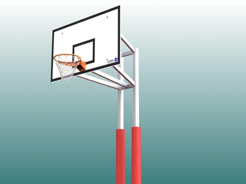 Schutzpolster für Basketball - Zweimastständer, Profil: 100 x 120 mm (1 Satz = 2 Stück)