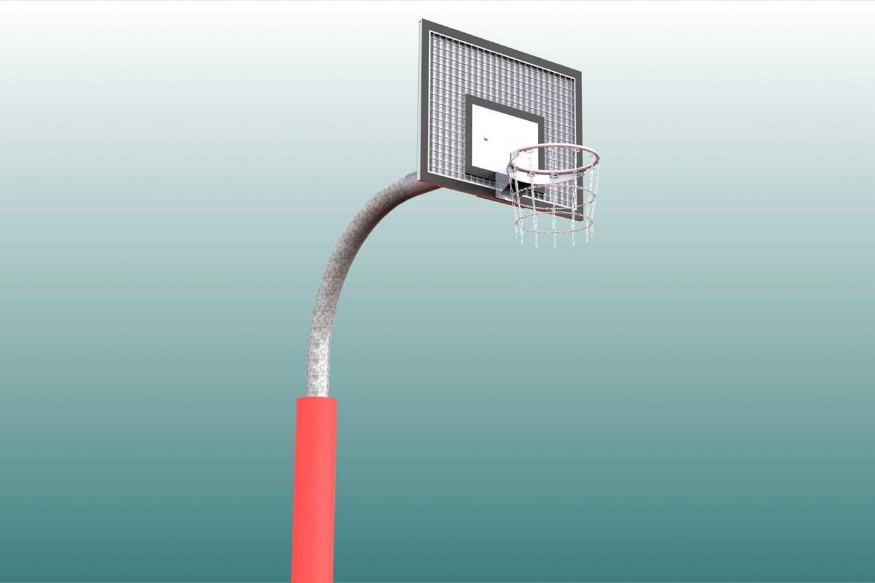 Schutzpolster für Basketball - Einmastständer, Profil: 140 mm