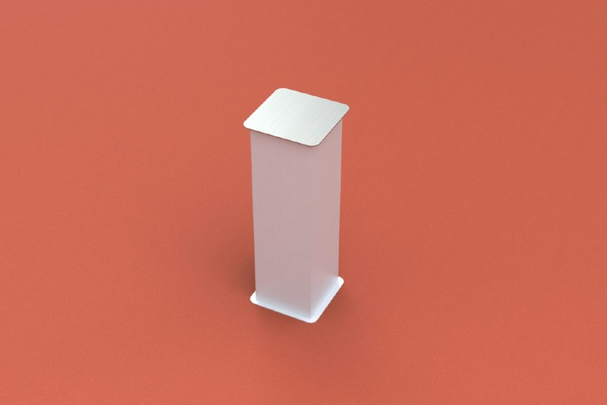 Ground socket standard for profile 150 x 150 mm, artec