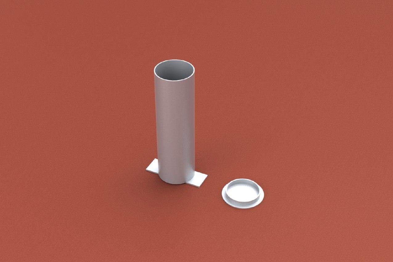 Bodenhülse Standard für Einmastständer, Rundprofil